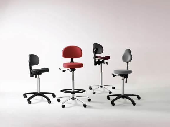 RH Support stole, til laboratorier, tandlæger, læger m.f.
